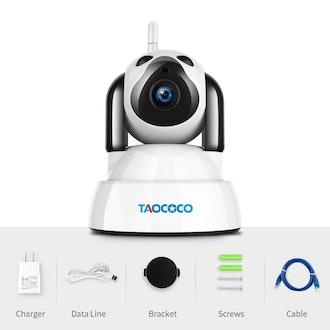 TAOCOCO Dog Pet Camera, Cat WiFi IP Camera, Wireless Surveillance Security Camera