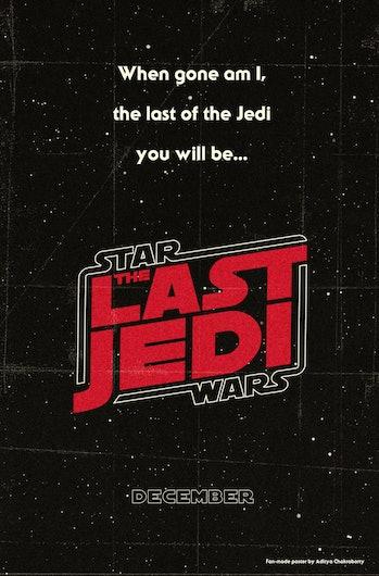 Star Wars: The Last Jedi poster design.
