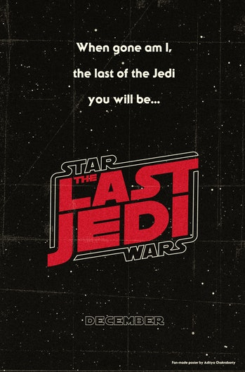 Star Wars: The Last Jedi poster design.
