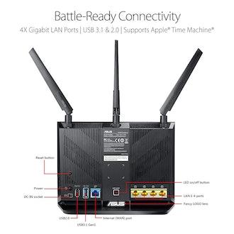 ASUS AC2900 WiFi Dual-band Gigabit Wireless Router (RT-AC86U)