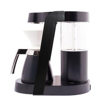 A black coffeemaker.