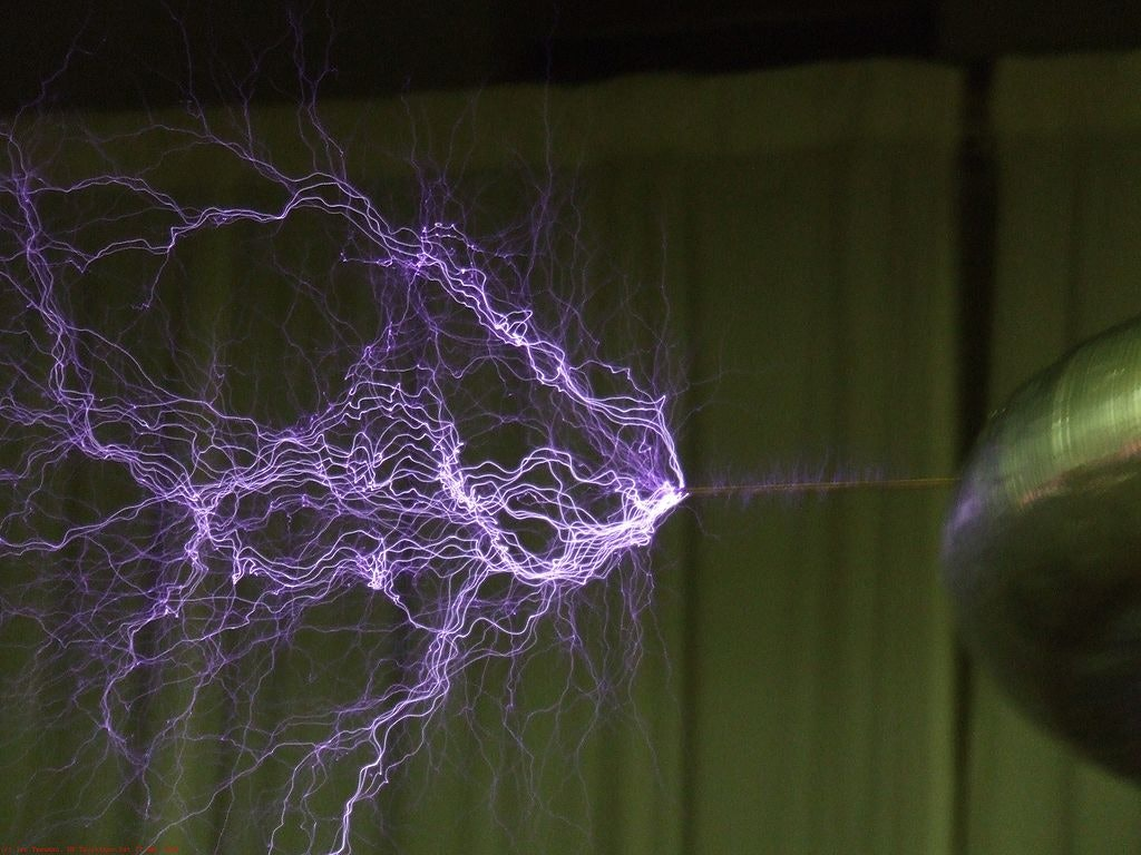 electrical discharge glow