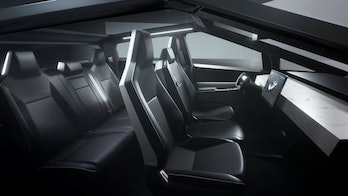 Tesla Cybertruck interior.