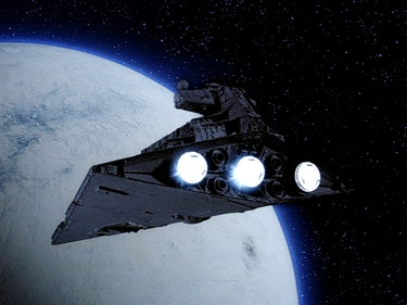 An Imperial Star Destroyer over Hoth