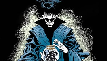 Still of Morpheus from Sandman Neil Gaiman comic