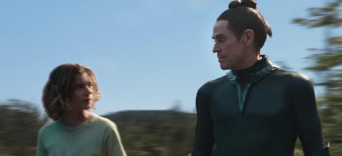 Young Aquaman training withNuidis Vulko.