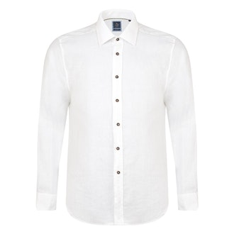 Irish Made - Ivory Linen Kilbeg Classic Fit Shirt