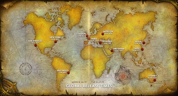 WoW Classic launch map