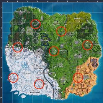 fortnite plane locations map