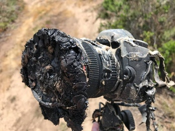 Bill Ingalls' camera after the Falcon 9 launch