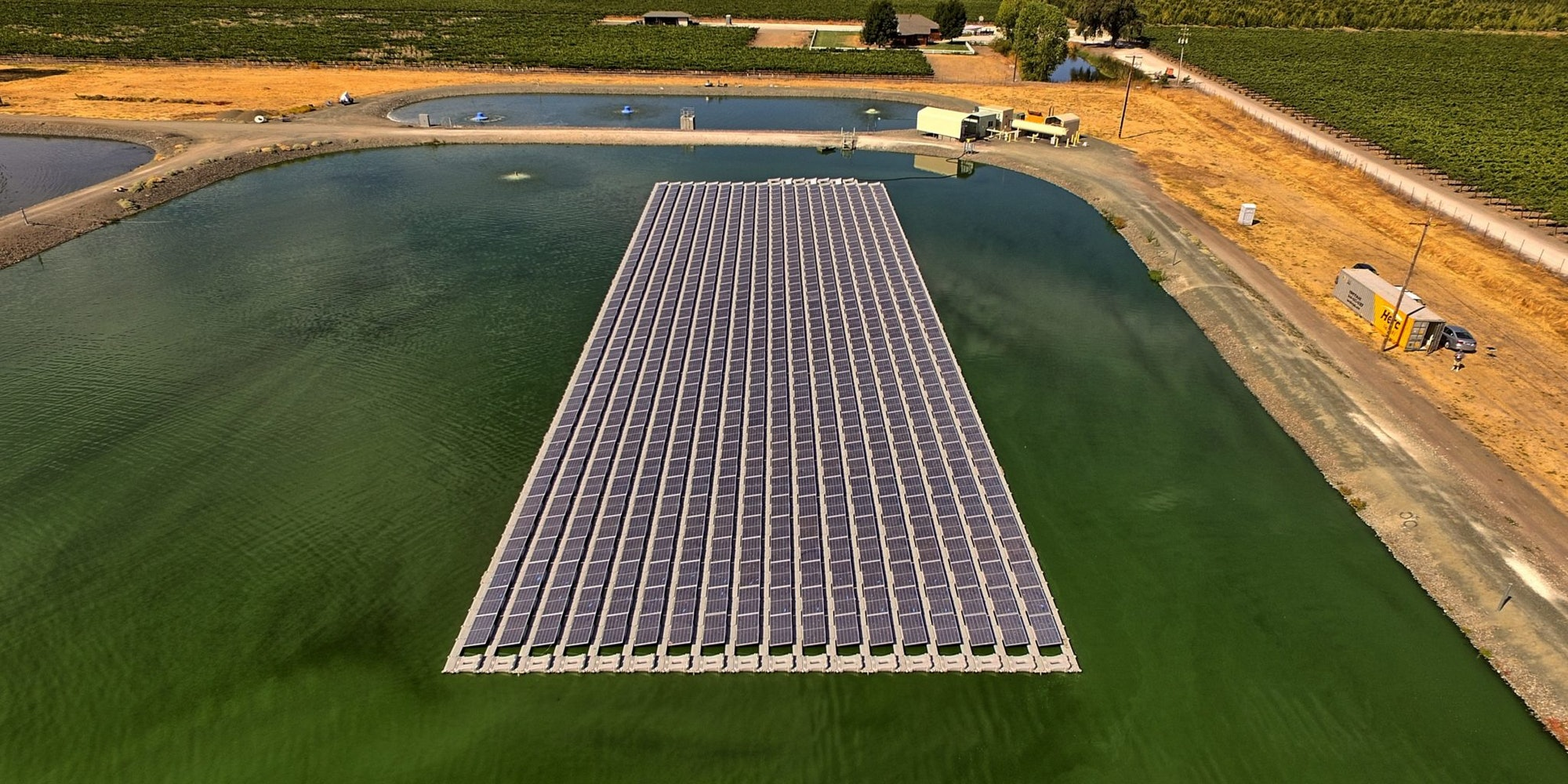 Floating solar array in Kelseyville, Califronia from Ciel & Terre