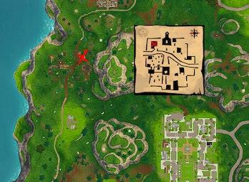 'Fortnite' Snobby Shores Treasure Map Season 5 Week 5