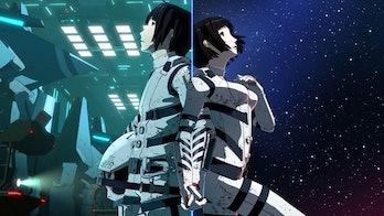 Tanikaze and Hoshijiro in 'Knights of Sidonia.'