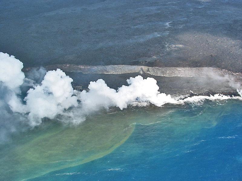 glass shards sediments kilauea hawaii