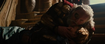 Odin is distraught after Frigga dies.