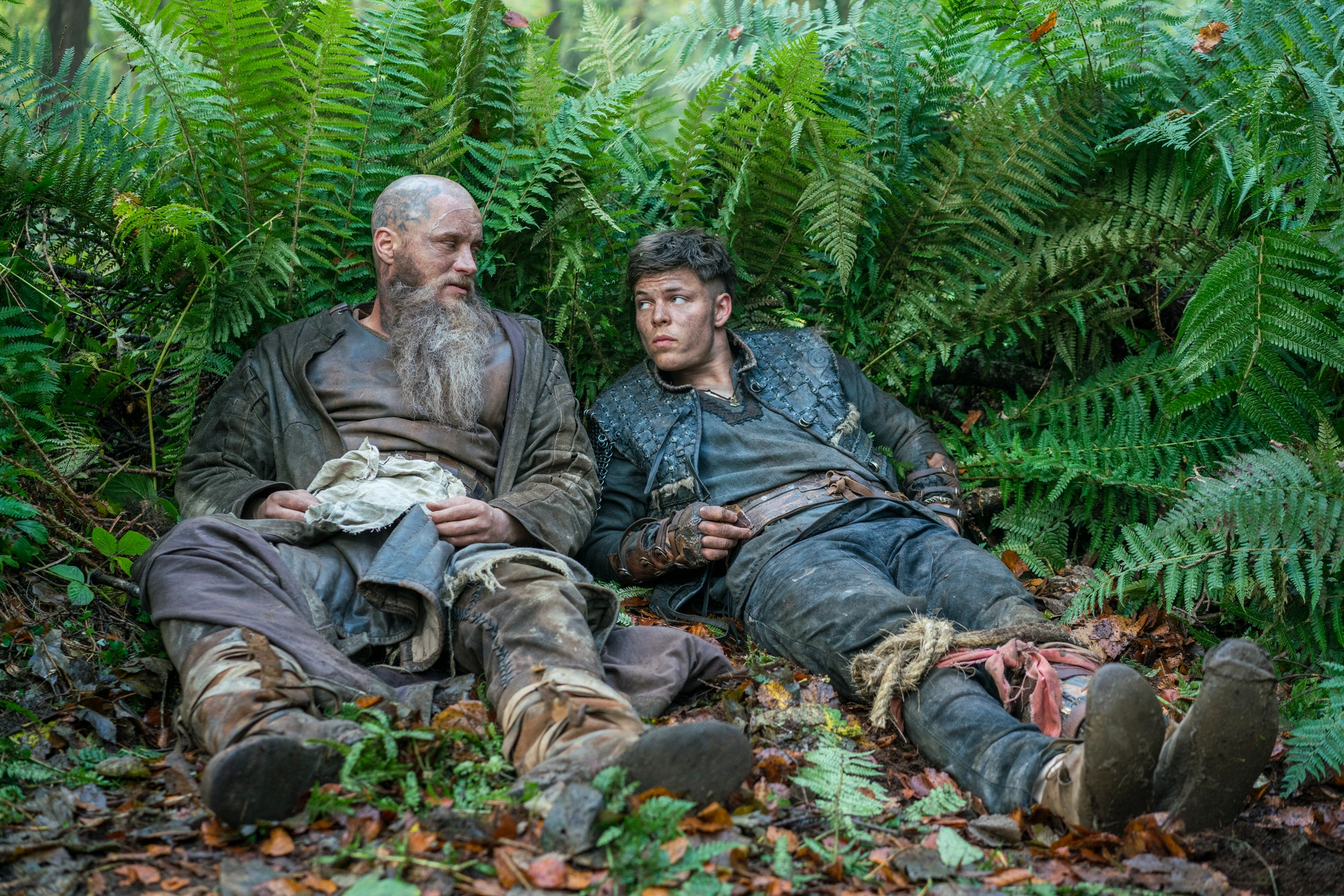 Travis Fimmel and Alex Hogh Anderson in 'Vikings'