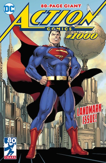 Jim Lee Action Comics Superman Cover