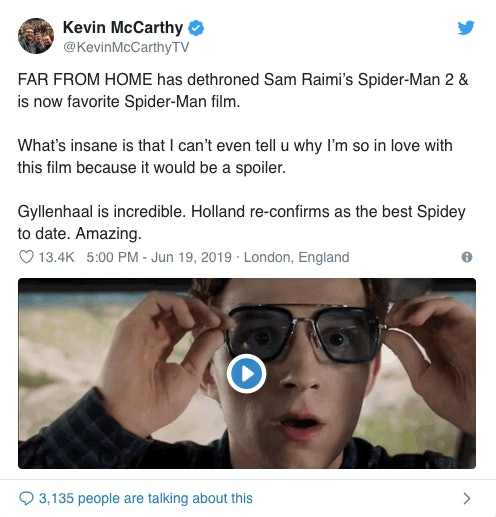 Kevin McCarthy Spider-Man Far From Home