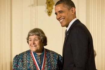 Yvonne Brill receiving2010 National Medal of Science