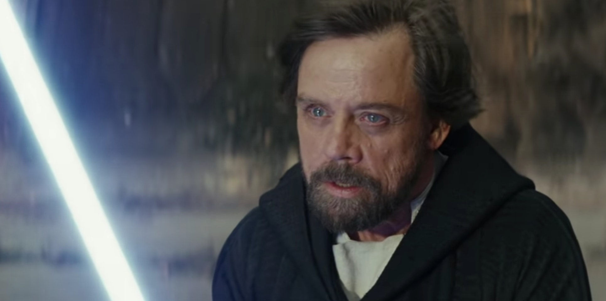 Mark Hamill as Luke Skywalker in 'The Last Jedi'