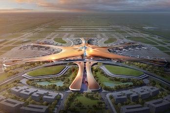 zaha hadid airport design china