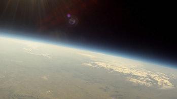 Mars balloon solar eclipse