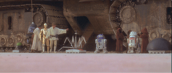 C-3PO and Luke Skywalker in 'Star Wars'