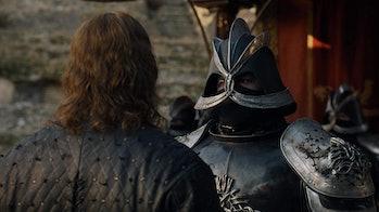 Rory McCann and Hafthor Bjornsson in 'Game of Thrones' Season 7