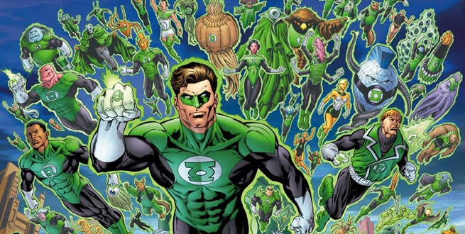 The Green Lantern Corps from DC Comics