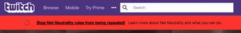 Twitch's banner.