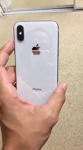 A pre-release iPhone X.