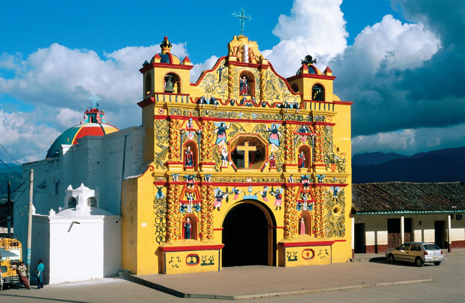 The La Iglesia de San Andres de Xecul church, about an hour's drive from Gabriel's home town of Totonicapán.