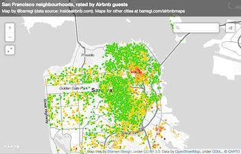 Barregi San Francisco Airbnb reviews data maps