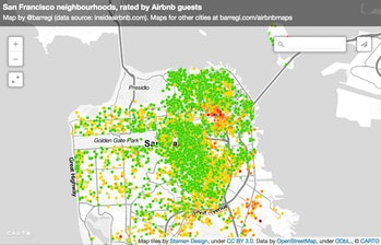 Barregi San Francisco Airbnb reviews data maps