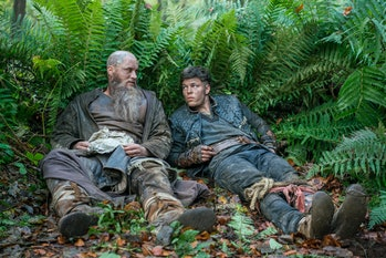 Travis Fimmel and Alex Hogh Andersen on Vikings