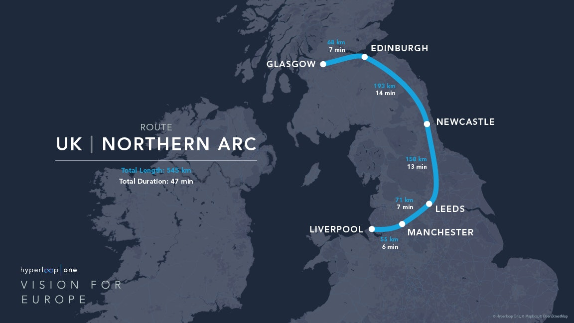 The northern arc.