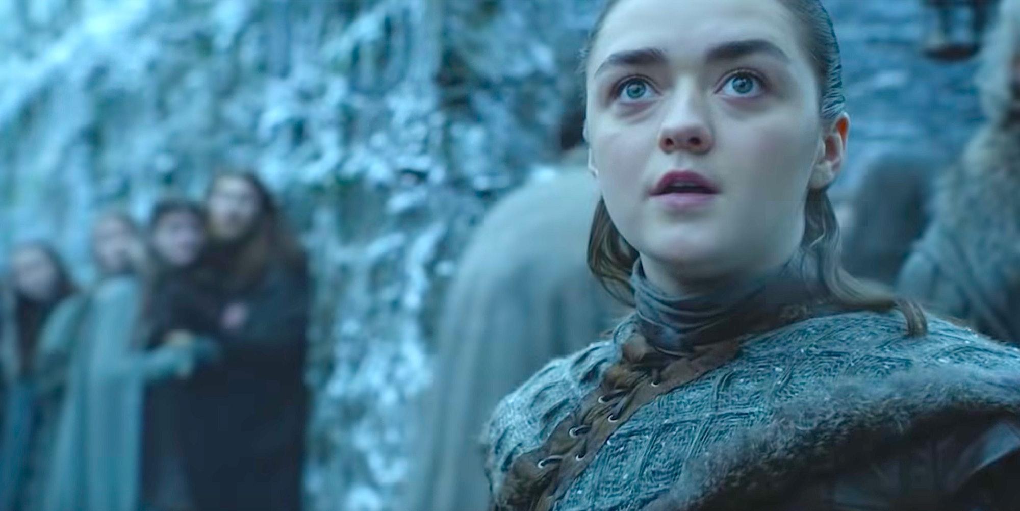Game of Thrones Season 8 arya sees dragon