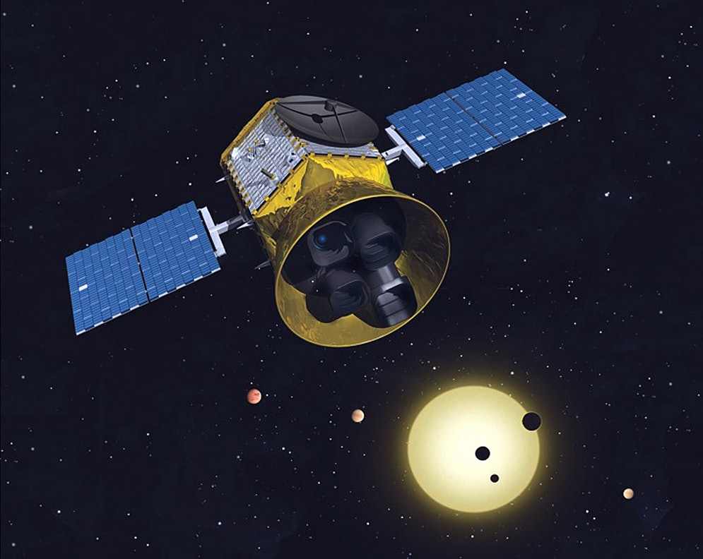 A concept image of the TESS mission.