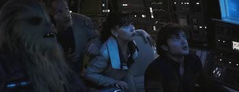 Falcon cockpit in 'Solo.'