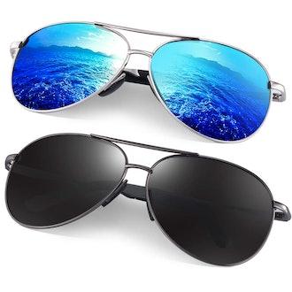 Feridio Polarized Aviator Sunglasses
