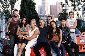 Cast of 'The Fast & the Furious'.