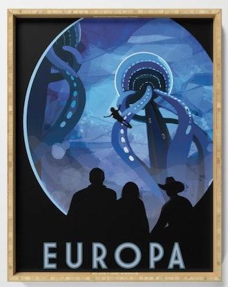 NASA Retro Space Travel Poster #4 - Europa Serving Tray