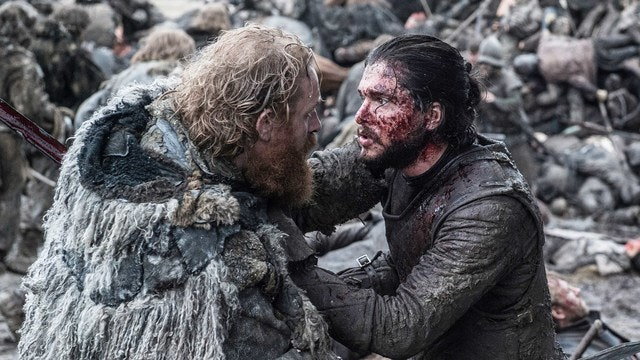 Tormund, for instance, is pulled in between his loyalty to the Free Folk, Mance Rayder, and Jon Snow.
