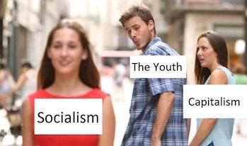 socialist boyfriend meme