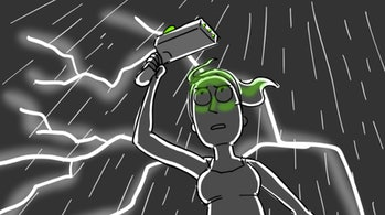 Summer in a 'Rick and Morty' Season 3 storyboard from artist Erica Hayes