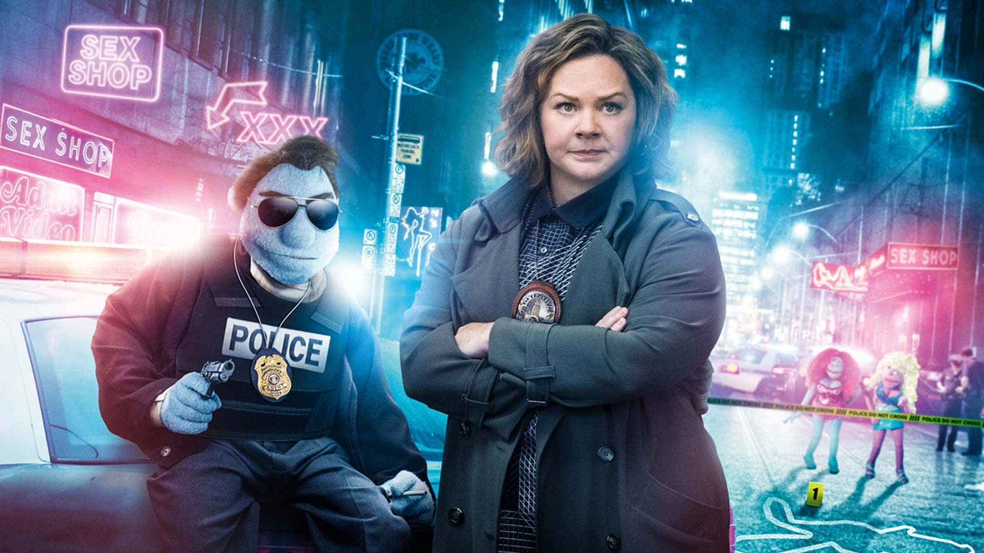 Melissa McCarthy stars in 'The Happytime Murders' as Detective Connie Edwards alongside a puppet protagonist.