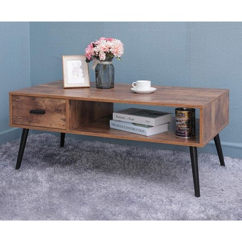 IWELL Mid-Century Modern Coffee Table