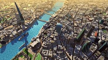 river ships 3D mapping city