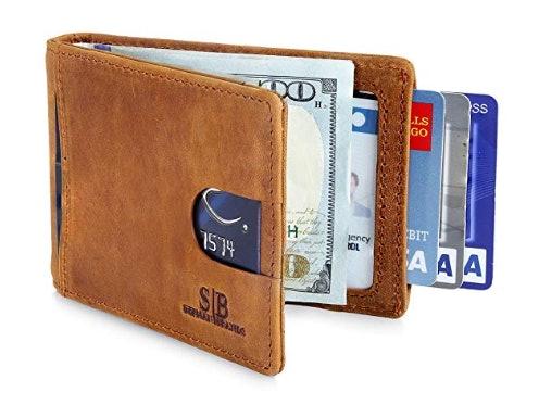 RFID Blocking Front Pocket Slim Minimalist with Money Clip Bifold Men/'s Wallets