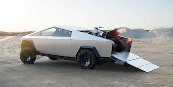 Tesla Cybertruck plus ATV